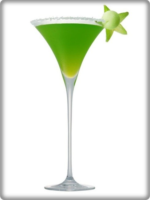 Cocktail gin vert curacao for Cocktail curacao